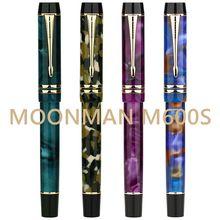 Moonman M600S Resina Acrilica Penna Stilografica Iridium F Inchiostro Della Penna Pennino Scatola Originale