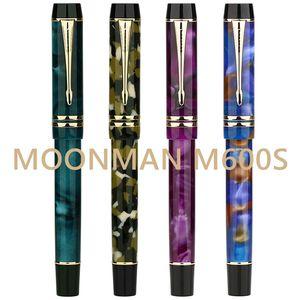 Image 1 - Moonman M600S Resina Acrilica Penna Stilografica Iridium F Inchiostro Della Penna Pennino Scatola Originale