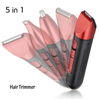Professional Waterproof RED Electronical Hair Clipper & Trimmer Set With 5 Accessories styling tools free shipping