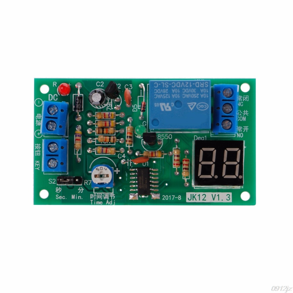 Dc 12v Delay Relay Turn Off Switch Module With Led Timer 1pcs On Electrical Equipment Relays C90a New Drop Ship In From Home Improvement