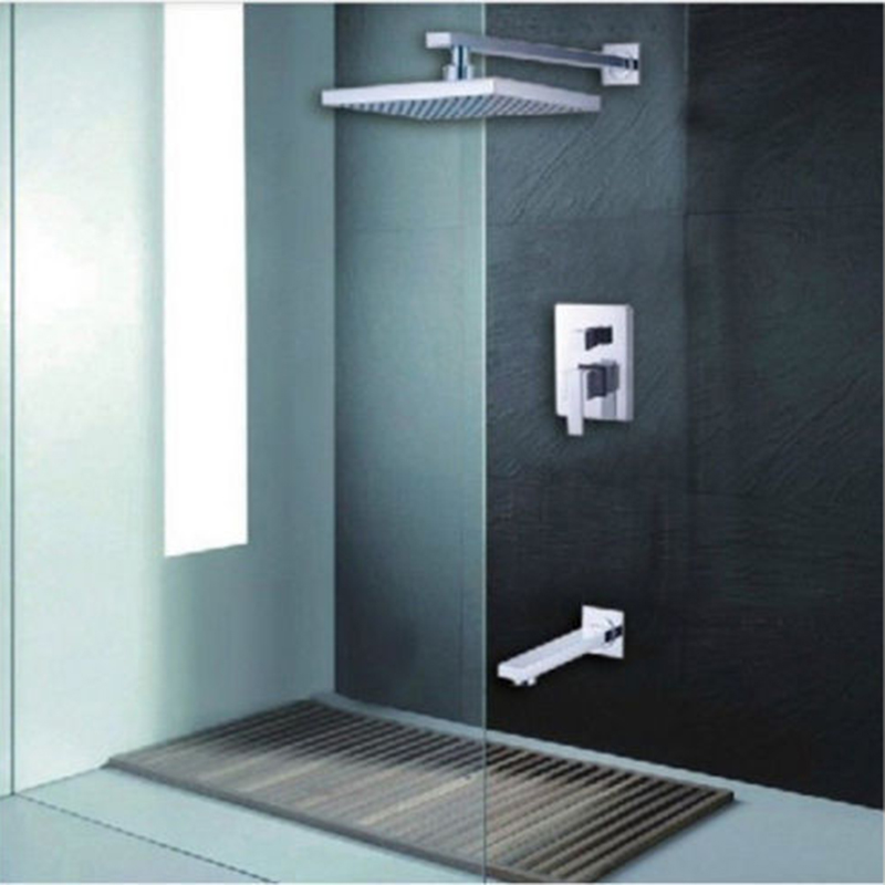 8 Inch Rainfall Waterfall Shower With Two Function Shower Mixer Bathroom Concealed Shower Sets Bath Bathroom Shower Hand