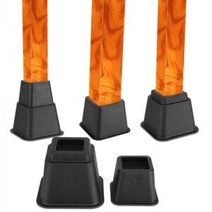Image 3 - 8 قطعة الناهضون السرير مجموعة كرسي أرجل قطع الأثاث الفيل طاولة أثاث الخشب الساق الطابق قدم حامي غطاء