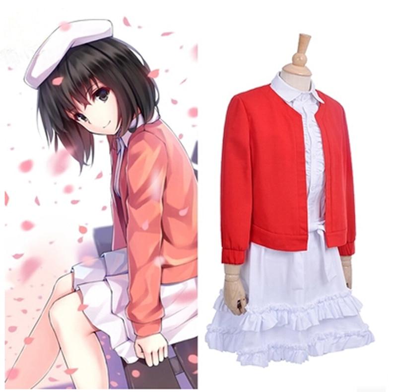Saenai Героиня не Sodatekata Katou Мэгуми косплей костюм для женщин аниме одежда лолита платье 2 шт. наборы