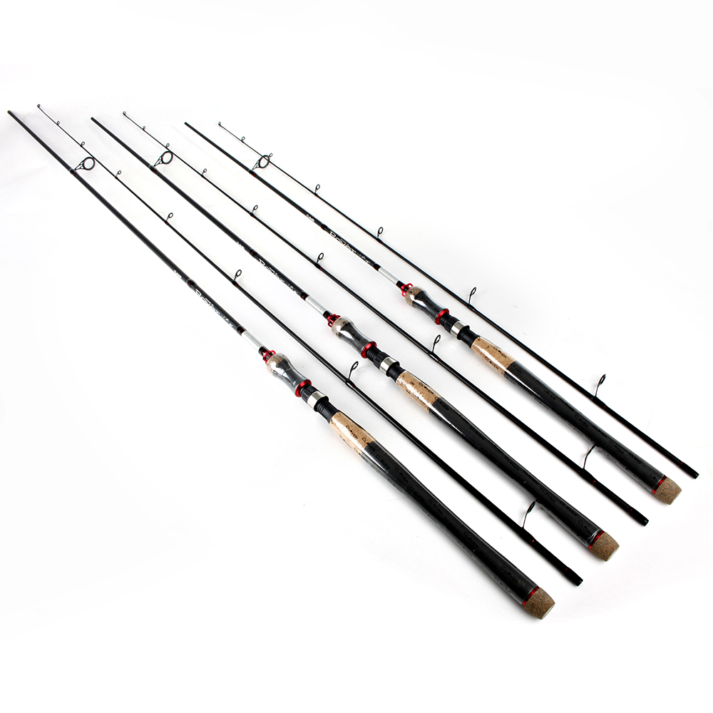ФОТО New 99% Carbon 2 Section Soft Lure Spinning Fishing Rod 2.1M 2.4M 2.7M C.W 10-30G Fishing Rod Pesca Tackle