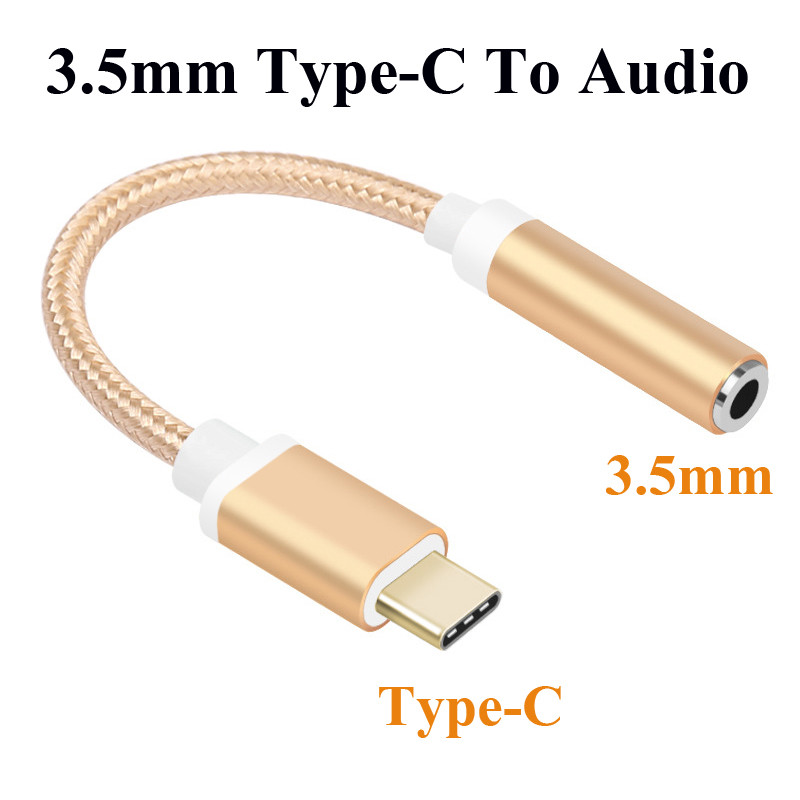 Type C To 3.5 Earphone Adapter Type-C 3.5mm AUX Audio Jack Cable Converter Headphone Headset Conversion Plug  For Xiaomi 6 Le 2