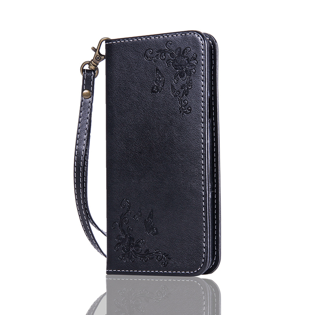 Magnetic Wallet Flip Case For A7 2016 Rose Flower Butterfly  Phone Case For Samsung Galaxy A7