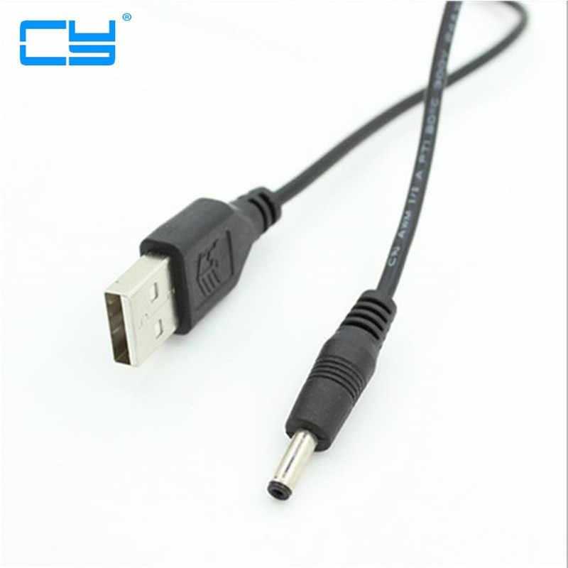 CableDeconn USB 2.0 A ذكر إلى 3.5x1.35 مللي متر 3.5 مللي متر التوصيل برميل جاك 5 فولت تيار مستمر التيار الكهربائي الحبل محول شاحن كابل 3.5*1.35 مللي متر
