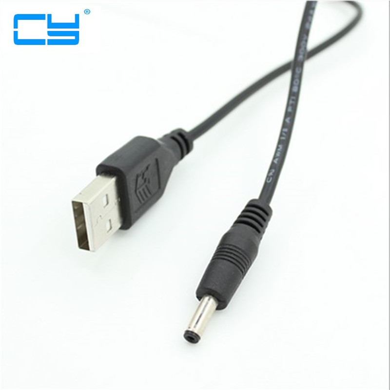 CableDeconn USB 2.0 A Male To <font><b>3.5x1.35mm</b></font> 3.5mm <font><b>Plug</b></font> Barrel Jack 5V DC Power Supply Cord Adapter Charger Cable 3.5*1.35mm image