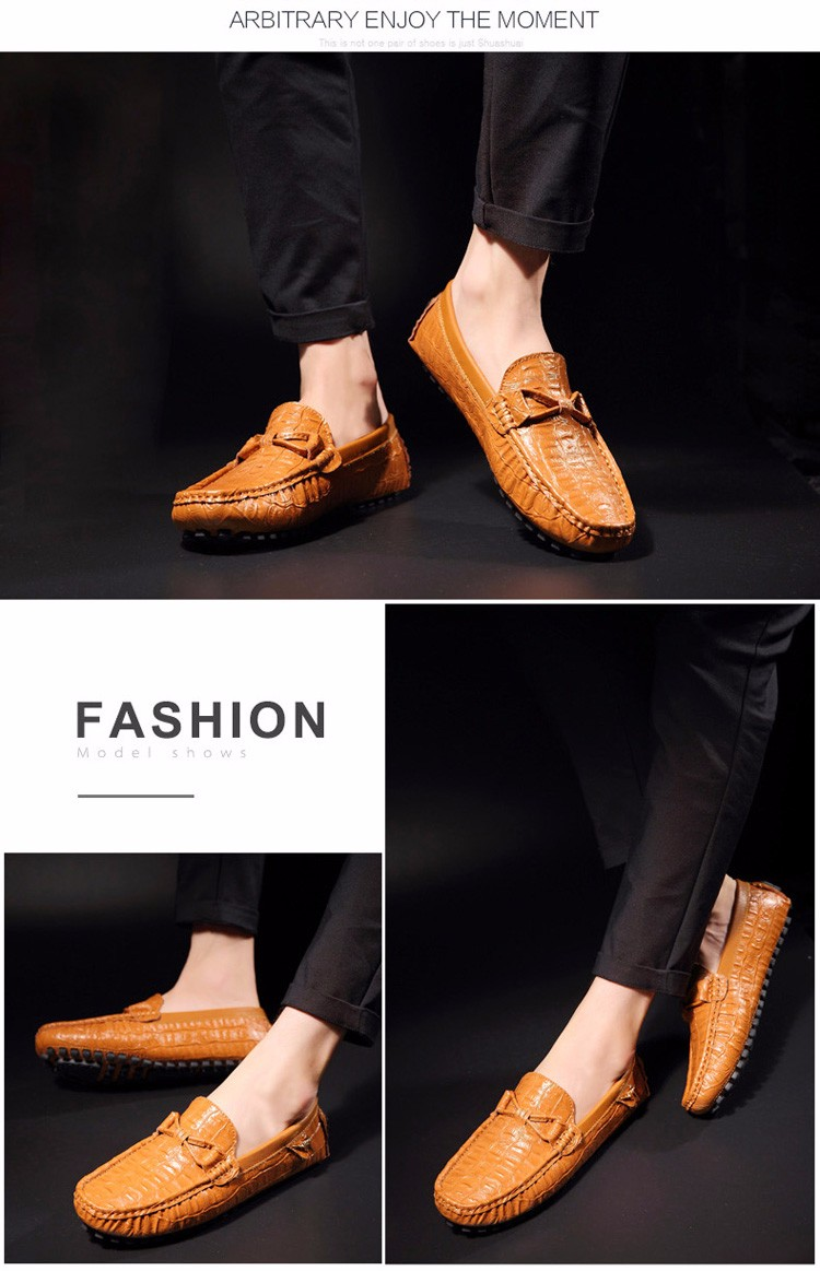 2016 KUYUPP Fashion Genuine Leather Men Loafers Casual Slip On Flats Summer Flat Heels Men Driving Shoes mocassin homme H48 (15)