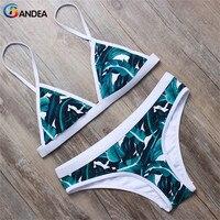 Stripsky New Style Printed Women Swimwear Adjustable Strap Swim Suit Halter Brazilian Bikini Padded Push Up