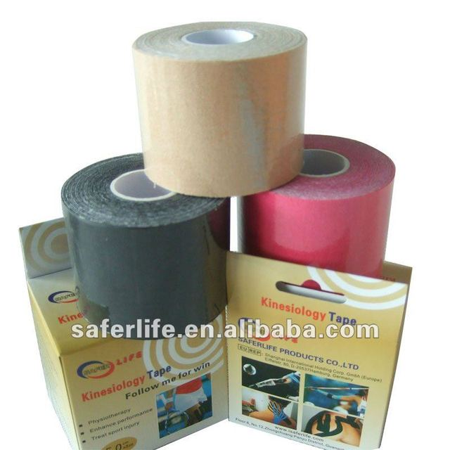 """10% Off discount 20pcs a lot Elastic cotton Sports Kinesiology Tape 2"""" W x 16.4' L w individual box muscle therapy"""