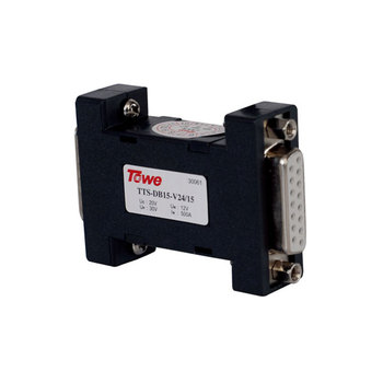 TOWE AP-DB15-V24/15 15-pin D-type connector, 12V Data Line Protection RS232 RS422 RS485 connector SPD R surge protector towe surge protective device spd ap coaxn catv s f interface f ftv antenna signal protection lightning protector light