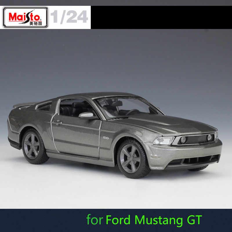 Maisto Figuur 1: 24 sport Race Auto Model voor Ford Mustang Voor Jeep Legering Super Racing Model Auto Speelgoed Auto Mobiele Wielen