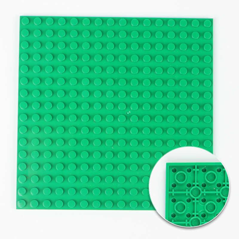 16*16 dubbelzijdig Dots Stad Bodemplaat voor Bakstenen Grondplaat Board DIY Bouwstenen Speelgoed Sets Onderdelen compatibel