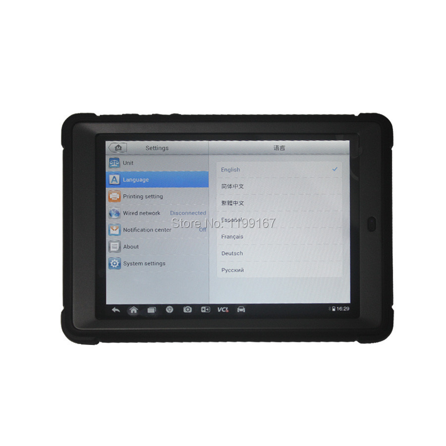 Беспроводной Autel MaxiSys Мини MS905 универсальный диагностический инструмент Бесплатное обновление в течение одного года с Сенсорный экран