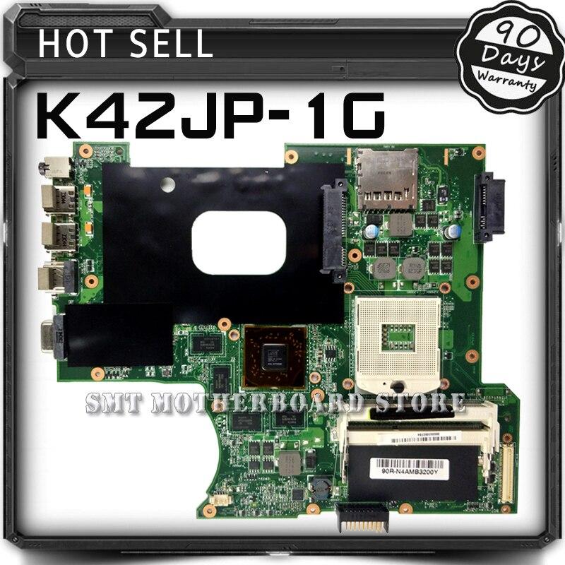 For ASUS K42JP K42J A40J X42J A42J K42JA REV 2.0 HD6570 1GB Laptop Motherboard System Board Main Board Card Logic Board Tested original k42j for asus laptop k42jr k42j k42jz k42jb k42jy k42jb motherboard main board rev2 0 hm55 chipset fully tested