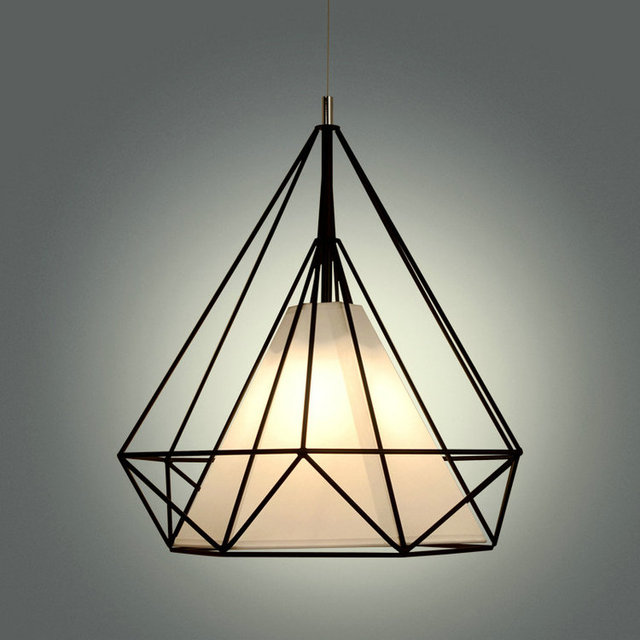 Us 29 5 50 Off Aliexpress Pyramid Diamond Cage Pendant Lamp Modern Vintage Edison Bulbs Fixtures Bar Cafe Restaurant Bedrooms