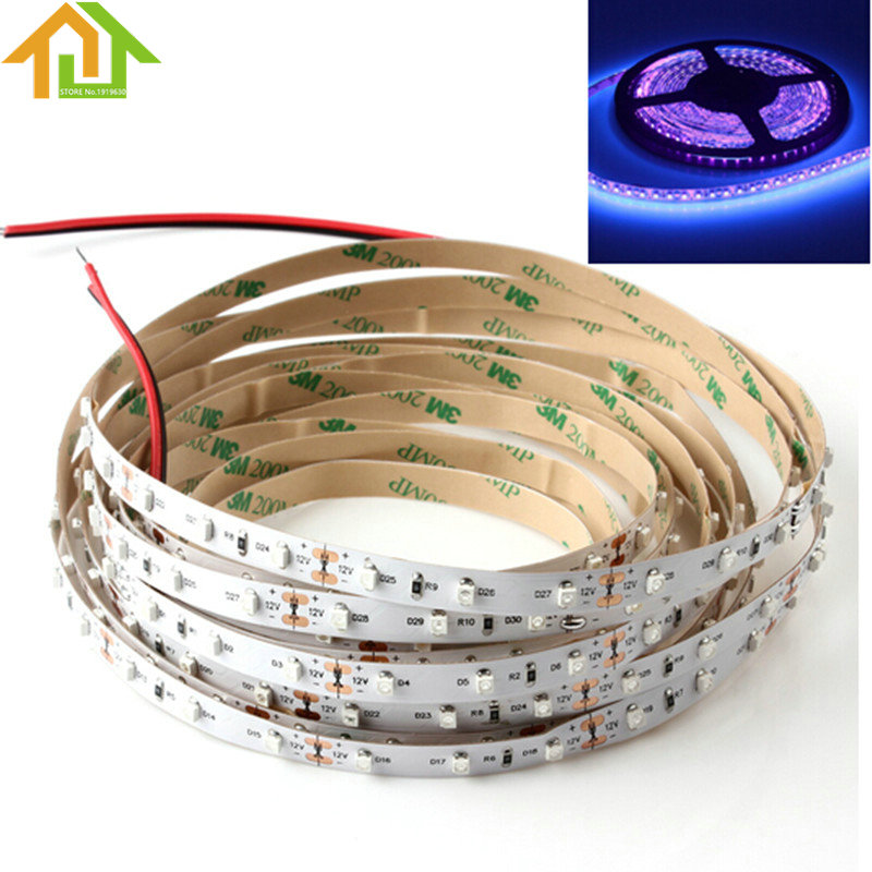 12V 5M UV Ultraviolet LED Blacklight Night Fishing Strip Lamp <font><b>Light</b></font>