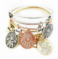 5 unids/lote palma por mayor de amor brazalete cableado ajustable Braceles y brazaletes