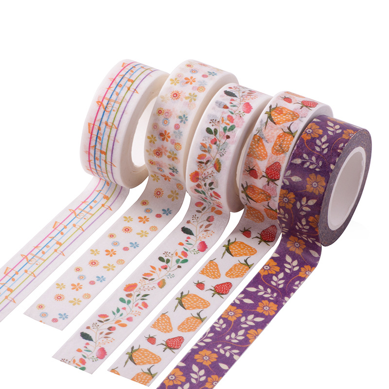 Pretty Floral Washi Tape, Flower ivy Washi Tape in Pastel Colors, Adhesive Tape With Small Blue and Yellow Flowers 12Pcs sale