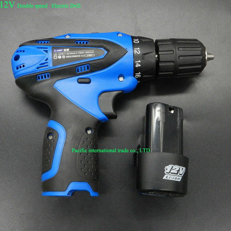 12V Cordless drill lithium electric drill two-speed taladro inalambrico electric screwdriver Lithium battery+Charger  цены
