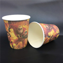 6pcs The Incredibles theme paper cups tableware for kids birthday Party decoration drinking