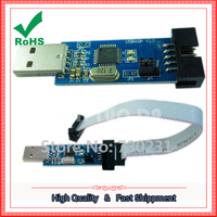 Free Shipping 5Pcs USBASP USBISP LC-01 51 AVR Programmer Adapter 10 Pin Cable USB ATMEGA8 module board