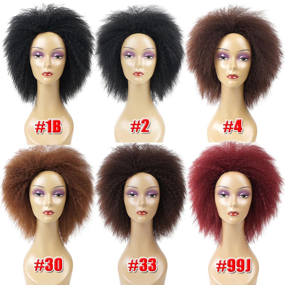 Beyond Beauty Short Synthetic Wigs Afro Kinky Curly Wig For Female African American Black Womens Wigs 6inch 100g Cosplay Wigs