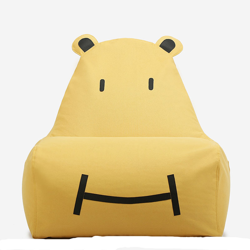 Casual small bean bag children cartoon cloth lazy sofa creative single cute tatami bed removable washable lazy sofa bean bag with pedal creative single sofa bedroom living room lazy stool tatami