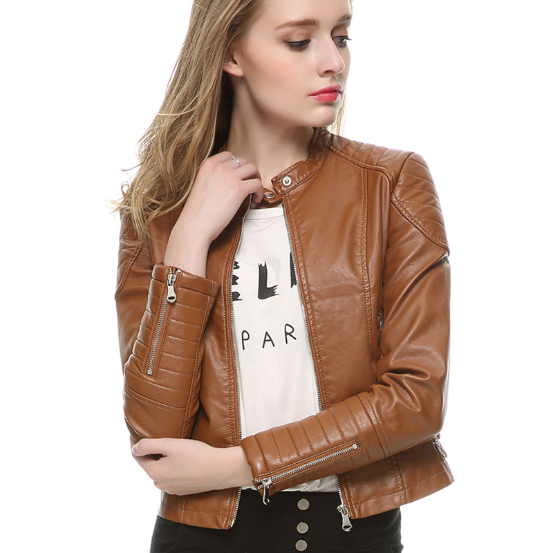 Aliexpress.com : Buy Leather Jacket Women New Fashion Brown Jacket