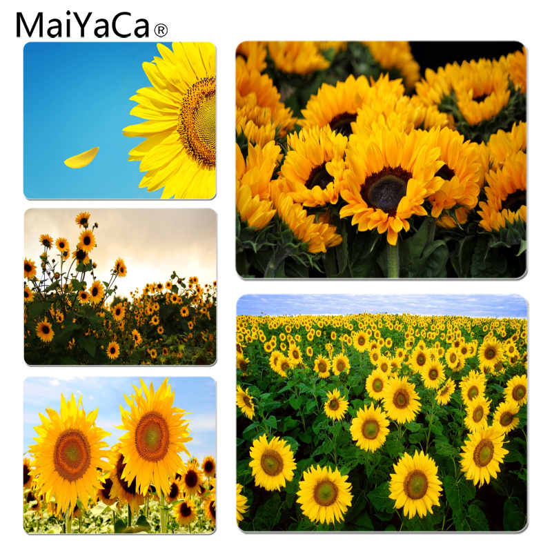 MaiYaCa Funny Golden sunflower Customized laptop Gaming mouse pad Size for 180*220*2mm and 250*290*2mm Mousepad