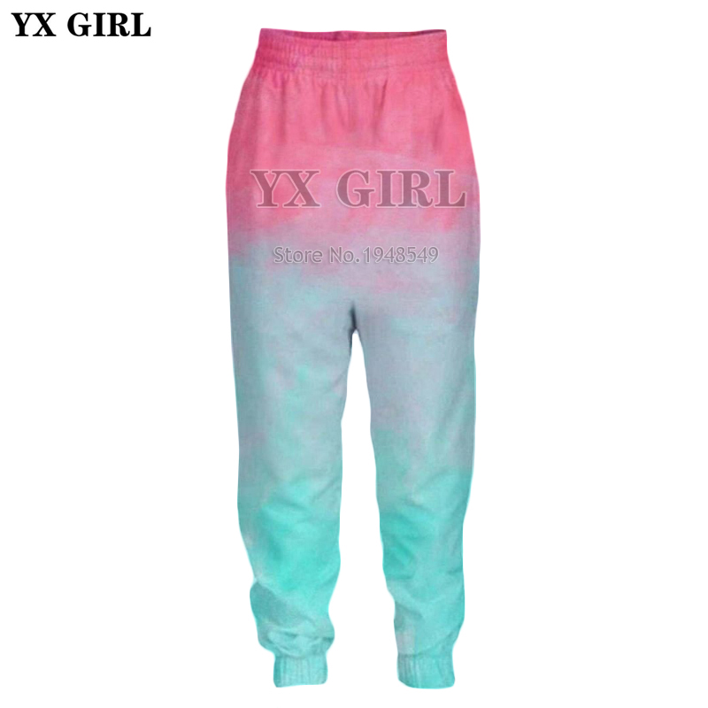 Aspiring Yx Girl Drop Shipping 2018 New Fashion Mens Womens Trousers Vibrant Colors 3d Print Casual Joggers Pants Sale Price
