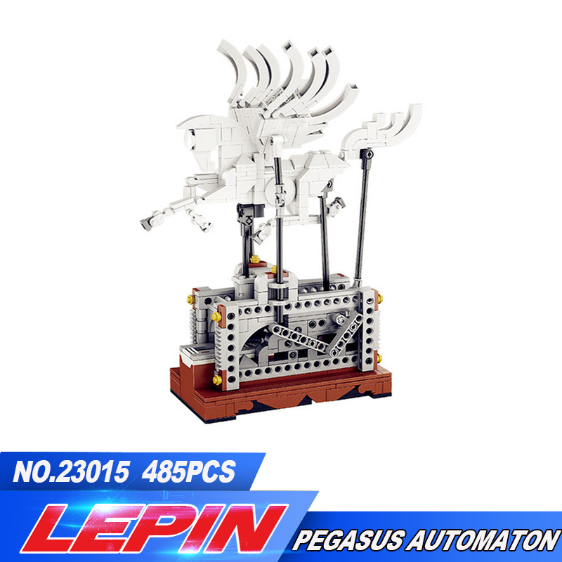 NEW Lepin 23015 485Pcs The Pegasus Automaton Mechanical Flying Horse Set Educational Building Blocks Bricks Toys Christmas gift in stock lepin 23015 485pcs science and technology education toys educational building blocks set classic pegasus toys gifts