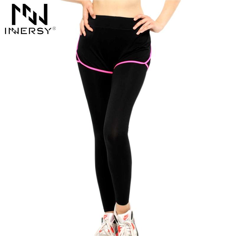 Prix pour Innersy Nouveau Sexy Étiré Pantalons Sport Gym Vêtements Spandex Collants Running Femmes Sport Leggings Remise En Forme Yoga Pantalon YD-316