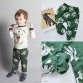 Ins 2017 BOBO CHOSES OUTONO calças legging crianças clohting ROUPA DOS MIÚDOS DOS DESENHOS ANIMADOS MENINOS de ROUPAS MENINAS vestidos VETEMENT ENFANT