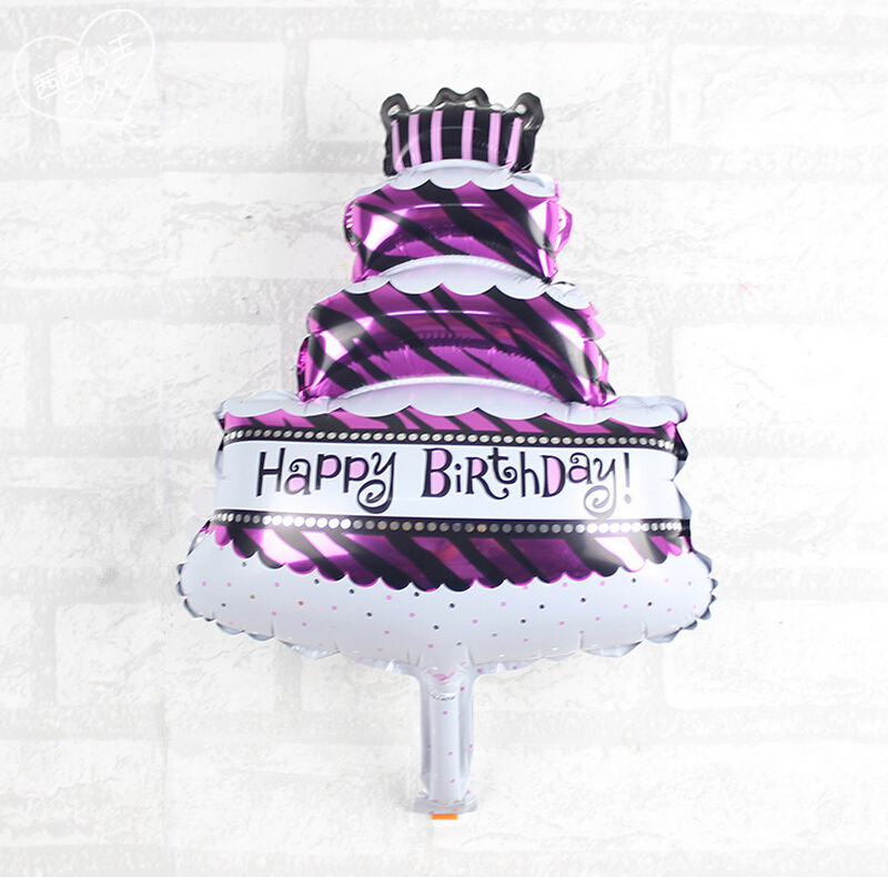3045cm Mini Birthday Cake Aluminum Film Balloon Three Layer Cake