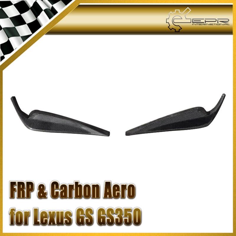 Voiture-style Pour Lexus GS GS350 F-Sport 13-15 L10 L15 AWL10 L15 Fiber De carbone JDM Style Front Lip 2 pcs Brillant Fibre Auto Corps Kit