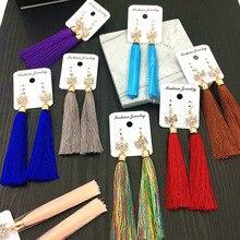 MYDANER 20 paar/partijen Gemengde Groothandel Lange Tassel Dangle Oorbellen voor Vrouwen Fashion Boho Crystal Hook Oorbellen Sieraden Bulks