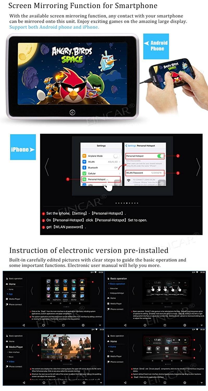 Android 6.0 подголовник Мониторы 10.1 Сенсорный экран автомобиля Мониторы Поддержка USB/TF Порты и разъёмы/1080 P видео Развлечения FM ИК Мультимедиа ...