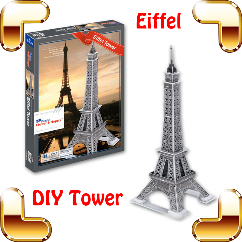 Nouvelle Année Cadeau Tour Eiffel 3D Puzzle Modèle Structure Français Tour Puzzle DIY D'apprentissage Jouet Décoration Puzzle Intérêt Jeu