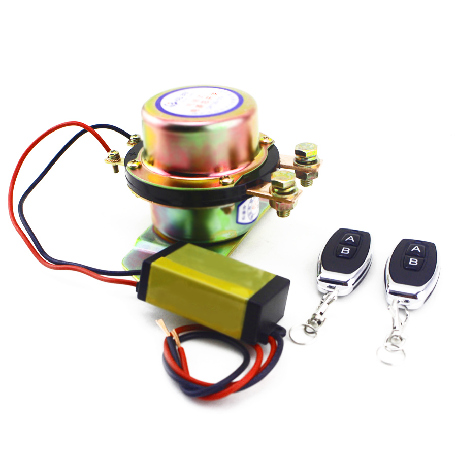 Commutateur universel de batterie de voiture 12 V avec 2 pièces télécommande sans fil contrôle manuel déconnexion relais de verrouillage cuivre