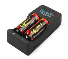 цена на 2PCS TrustFire 26650 5000mAh 3.7V Li-ion Rechargeable Protected Battery+TrustFire TR-006 Multifunctional Battery Charger