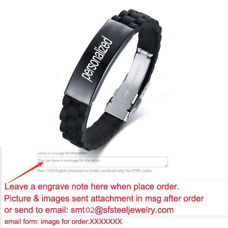 PERSONALISED Mens stainless steel  ID bracelet engraved Husband Son Gift