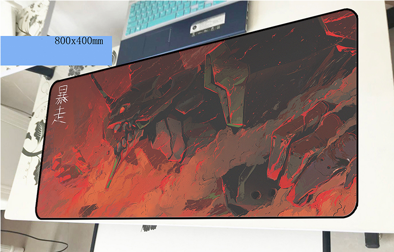 evangelion mousepad 800x400x3mm Boy Gift gaming mouse pad gamer mat wrist rest computer desk padmouse keyboard