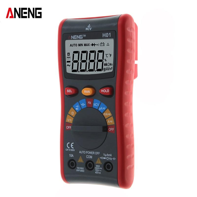 ANENG H01 4000Counts Auto Range Digital Multimeter Resistor Capacitance Current Voltage Frequency Measuring Instrument Tester