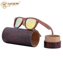 New hot wood sunglasses handmade skateboard wooden sun glasses polarized driving fishing eyewear glasses for men women W015