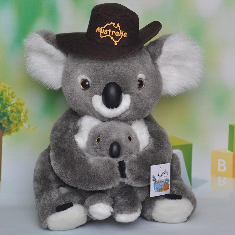 ビッグ素敵な高品質ぬいぐるみコアラおもちゃコアラ人形付き帽子ギフト約39センチ0348  グループ上の おもちゃ & ホビー からの ぬいぐるみ & フラシ天 動物 の中 1