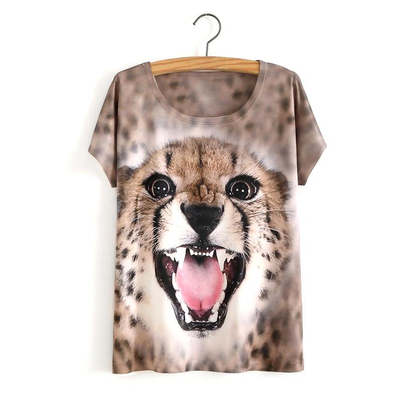 HTB1C99VOVXXXXbiaXXXq6xXFXXXu - White Tiger 3D Print T-Shirt Women Summer Clothes