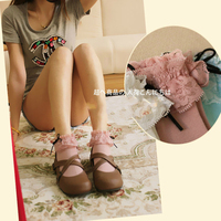 Princess sweet lolita socks Japanese vintage lace bow lady socks Korean pure cotton Princess student socks women WGR111