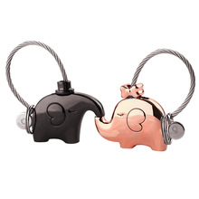 Milesi elephant  for lovers gift bag pendant a couples key ring Trinket key chains car keychain chaveiro innovative Items K0180